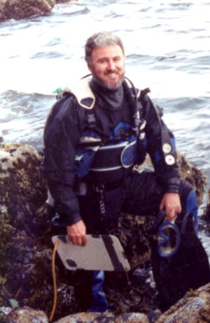 Jim in dive gear