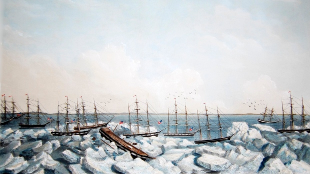 Lost whaling ships off Alaska