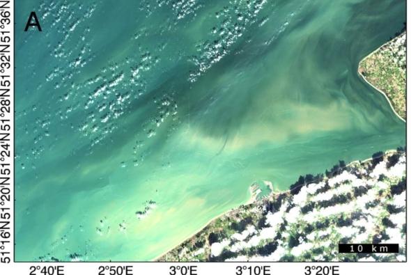 Landsat-8 image taken in 2013 of shipwreck sites off the coast of Belgium. Credit: HIGHROC
