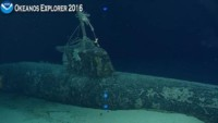 Photo of Japanese WWII midget submarine filmed Dec 7, 2016
