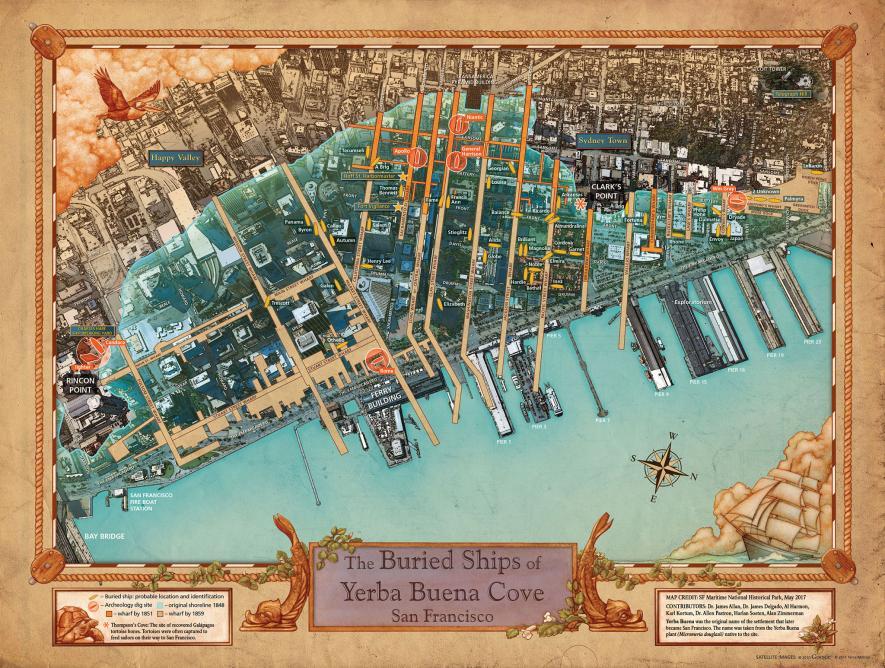 San Francisco shipwreck map