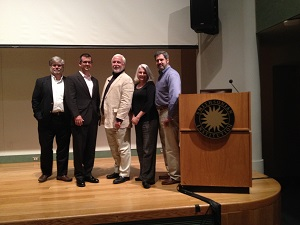 James Delgado with colleagues David Alberg, David Krop, Anna Gibson Holloway and Larrie Ferreiro at the Smithsonian Institution in Washington DC after presenting an all day symposium on the wreck of USS Monitor