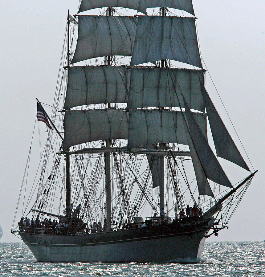 Elissa, three-masted bark